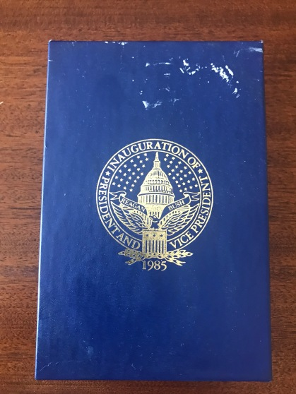 Official 1985 Reagan Inaugural Medal Box